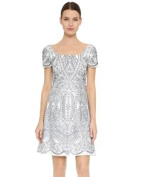 Notte by Marchesa | Blue Mosaic Lace Dress | Lyst