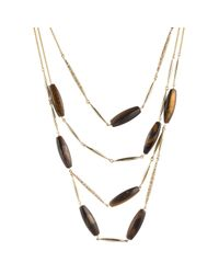 Alexis Bittar - Metallic Multi Strand Tigers Eye Spear Bib Necklace You Might Also Like - Lyst