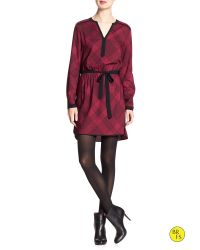 Banana Republic - Red Factory Print Shirt Dress - Lyst