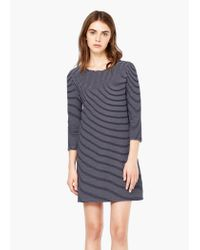 Mango - Blue Striped Cotton Dress - Lyst