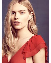 Free People | Metallic Amber Sceats Womens Curved Pearl Ear Cuff | Lyst