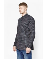 French Connection | Gray Checked Washed Shirt for Men | Lyst