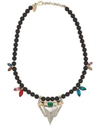 Iosselliani | Multicolor Geometric Floral Necklace | Lyst