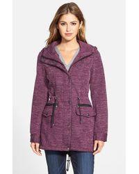 Steve Madden - Purple Sweater Knit Anorak - Lyst