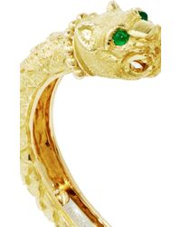 David Webb - Metallic Greek Lion Bangle - Lyst