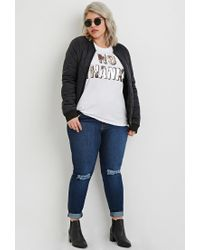 Forever 21 - White Plus Size Sequined No Graphic Tee - Lyst