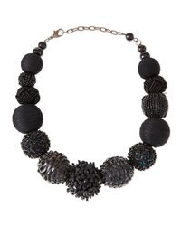 Marina Rinaldi - Black Lea Beaded Spheres Necklace - Lyst