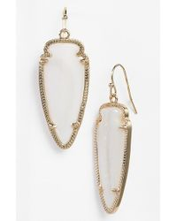 Kendra Scott | White 'sky Spear' Small Statement Earrings | Lyst