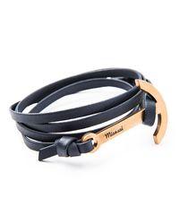 Miansai | Blue Modern Anchor Leather Bracelet for Men | Lyst