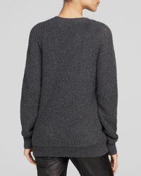 Vince - Gray Mesh Stitch Dolman Sweater  - Lyst