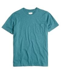 Brooks Brothers | Green Slub Jersey Tee Shirt for Men | Lyst
