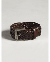 John Varvatos - Brown Braided Cuff for Men - Lyst