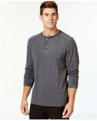 32 Degrees | Gray Heat Comfort Long-sleeve Henley for Men | Lyst