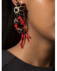 DSquared² | Red Floral Single Earring | Lyst
