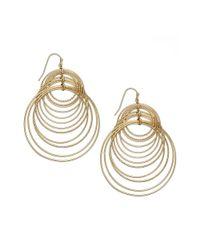 INC International Concepts - Metallic Gold-tone Multi-circle Hook Earrings - Lyst