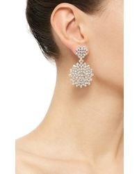 Paul Morelli - Metallic Mixed Diamond Cluster Double Dangle Earrings - Lyst