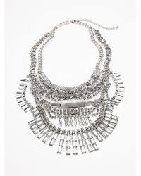 Free People | Metallic Womens Hazel Rays Collar | Lyst