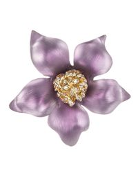 Alexis Bittar | Purple Ombre Clematis Flower Pin | Lyst