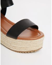Steve Madden - Surfaa Black Espadrille Wedge Sandals - Black - Lyst