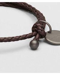 Bottega Veneta - Brown Ebano Intrecciato Nappa Bracelet - Lyst