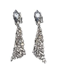 Alexis Bittar | Gray Empire Pavo Crystal Encrusted Clip Earrings | Lyst