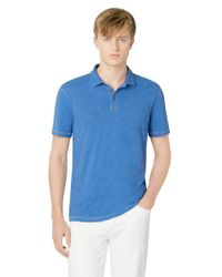 Calvin Klein Jeans - Blue Slub Knit Polo Shirt for Men - Lyst