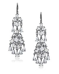 Carolee | Metallic Phantom Cubic Zirconia Chandelier Earrings | Lyst