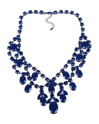 Stefanel - Blue Necklace - Lyst