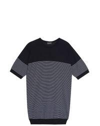 John Smedley - Blue Zester Stripe T-shirt for Men - Lyst