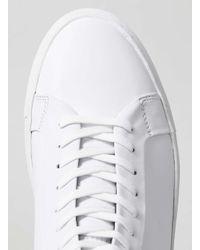 TOPMAN - White Leather Fashion Hi Tops for Men - Lyst