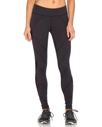 Beyond Yoga - Black Mesh Diamond Legging - Lyst