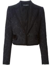 Dolce & Gabbana | Black Brocade Cotton-Blend Jacket | Lyst