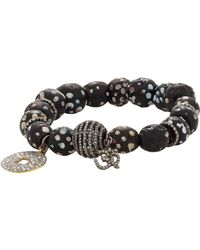 Carole Shashona | Black Diamond Tribal Om Bead Bracelet | Lyst