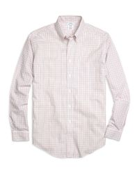 Brooks Brothers | Pink Non-iron Brookscool® Madison Fit Tattersall Sport Shirt for Men | Lyst