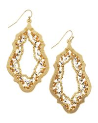 Nakamol | Metallic Moroccan Beaded Drop Earrings Gold | Lyst