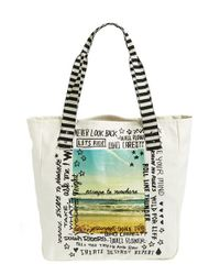 Volcom | Natural 'tote It Around' Tote | Lyst