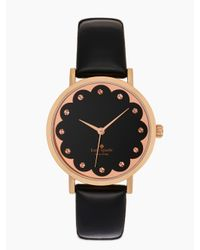 Kate Spade | Black Scallop Metro Watch | Lyst