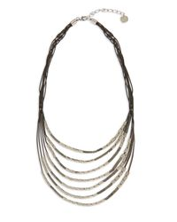 Jaeger - Metallic Chain And Bead Necklace - Lyst