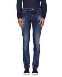 Love Moschino - Blue Denim Pants for Men - Lyst