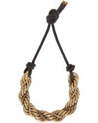 Lanvin | Metallic Gold And Black Katoucha Chain Necklace | Lyst