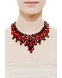Carole Tanenbaum - Thorin Contemporary Red Necklace With Pear Brilliant Stones Set In Japanned Metal - Lyst