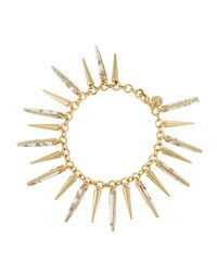Lydell NYC | White Spiked Howlite Bracelet | Lyst