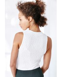 Silence + Noise | White Take The Plunge Tank Top | Lyst