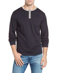 United By Blue | Blue Long Sleeve Henley for Men | Lyst