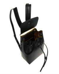 Mansur Gavriel - Black Mini Vegetabletanned Leather Backpack - Lyst
