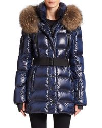 Sam. | Blue Millenium Fur-trimmed Puffer | Lyst