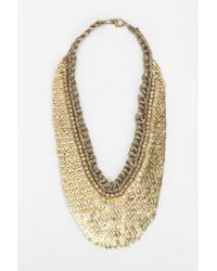 Deepa Gurnani | Metallic Scales Bib Necklace | Lyst