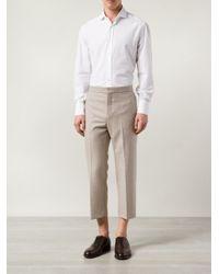 Brunello Cucinelli   White Jersey Spread Collar Shirt for Men   Lyst