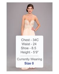 Faviana | Pink Glamour Strapless Floral And Mesh Bodice Gown S7325 | Lyst