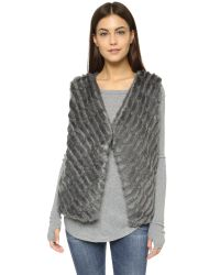 BB Dakota - Gray Keith Faux Fur Vest - Dark Grey - Lyst